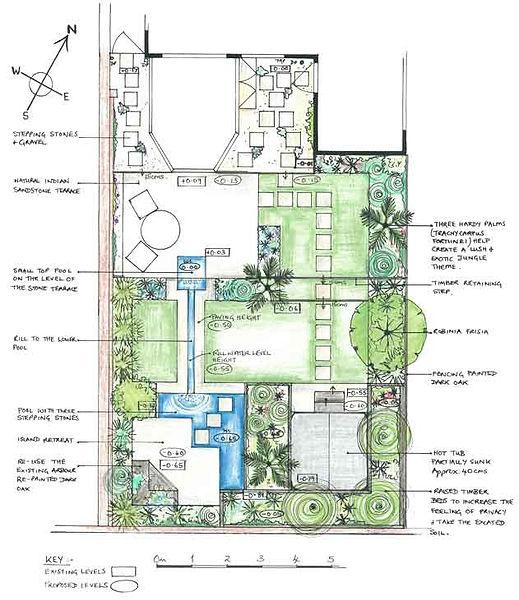 Small urban garden retreat