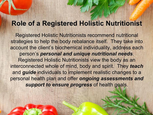 What is a Registered Holistic Nutritionist ?