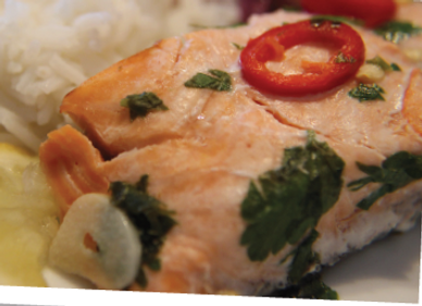 Spicy Salmon Parcels