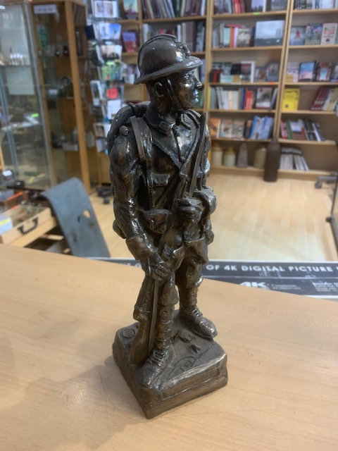 Bronze coated resin French Poilu Soldier