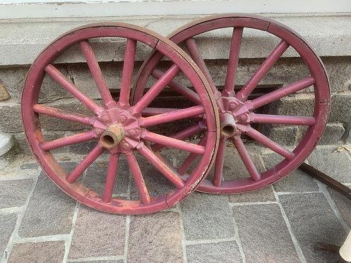 WW1 era wagon wheels 75cm diameter (pair price 50 euros)