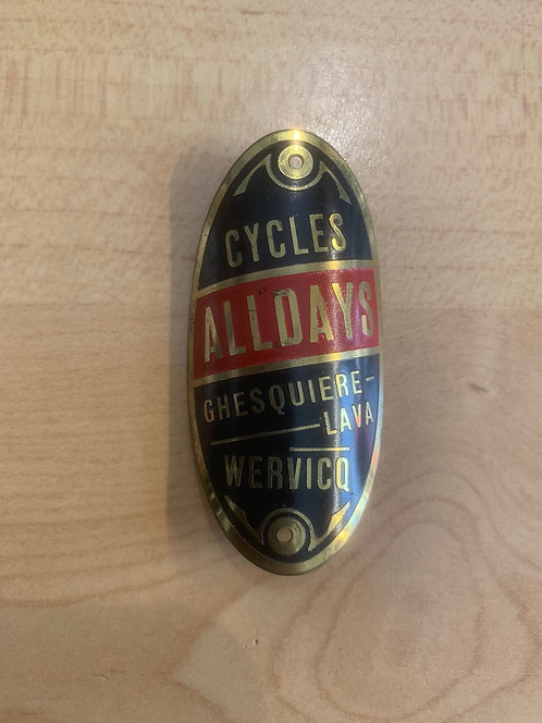 Old bicycle name plate/badge 4