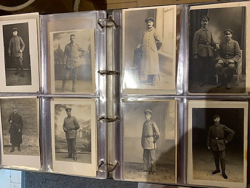 Collection of 78 German WW1 real photo postcards