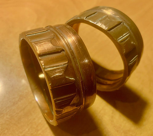 Trench art napkin rings (1 pair)