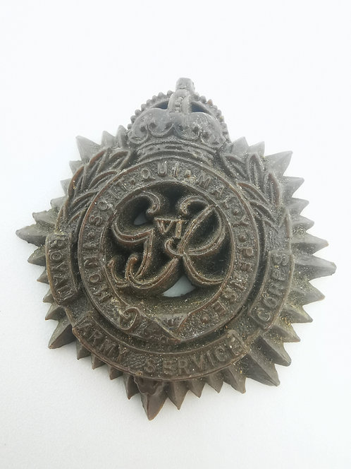 Royal Army Service Corps WW2 PLASTIC/bakelite Economy issue