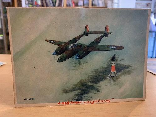 Lockheed Lightning Postcard