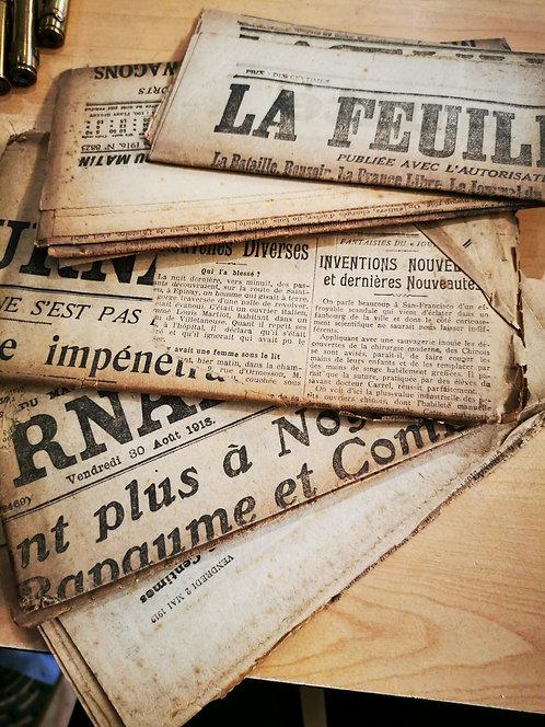 Original 1914 French Newspaper