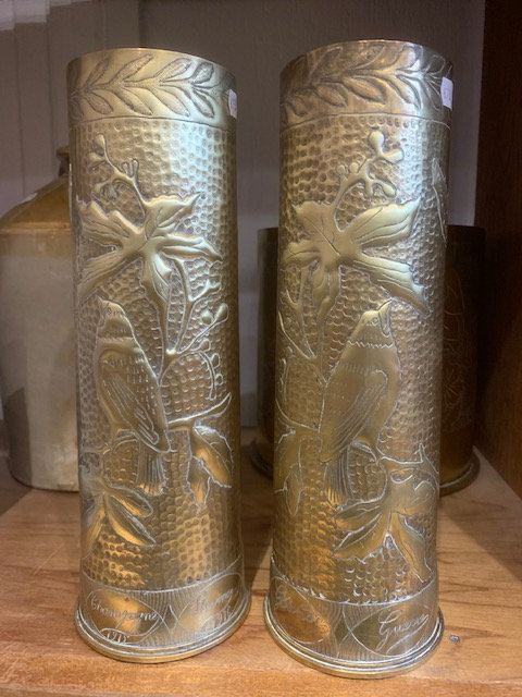 Trench Art ; British 18pdr pair