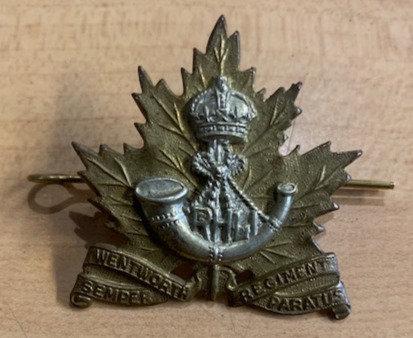 RHLI Royal Hamilton Light Infantry Cap Badge