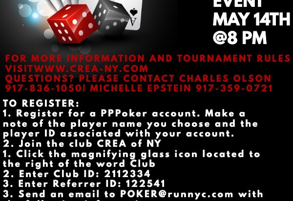 Online Poker Tournament on May 14th with Portion of Proceeds to Grandma's Love