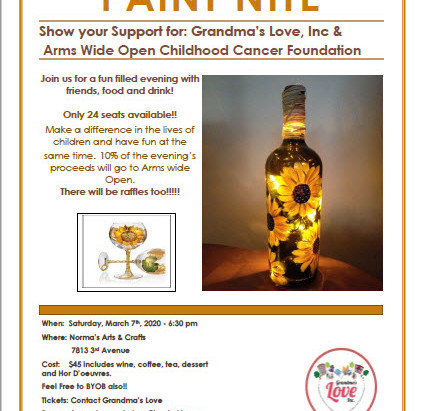 Join us for Paint Nite for a fun filled evening with friends, food and drink