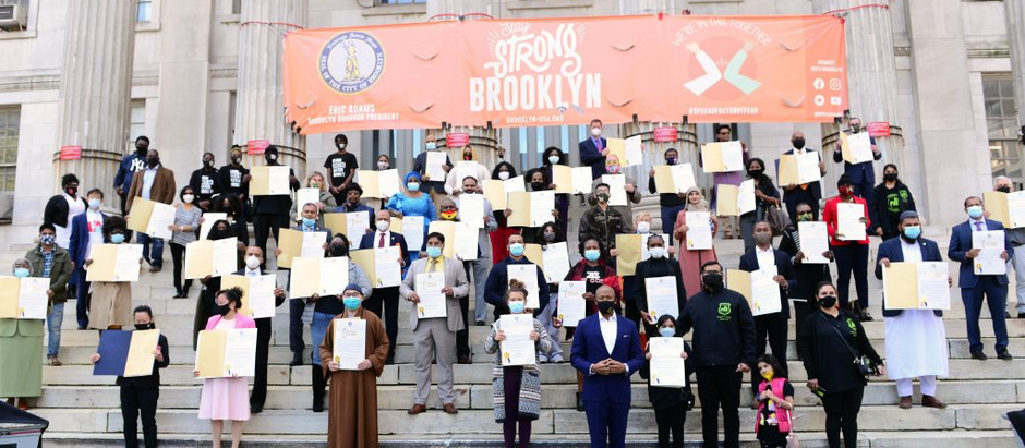 "Grandma's Love To Be Honored as a ""COVID-19 Hero"" by Brooklyn Borough President Eric Adams"