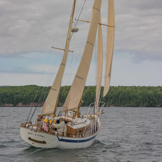 Introducing our new vessel. She is a Cheoy Lee Clipper 33. The ketch rig allows for multiple sail options which will be a lot of fun with our guests this summer. This was my favorite picture out of a handful that the previous owner provided. Can't wait to glide through those islands with everyone!