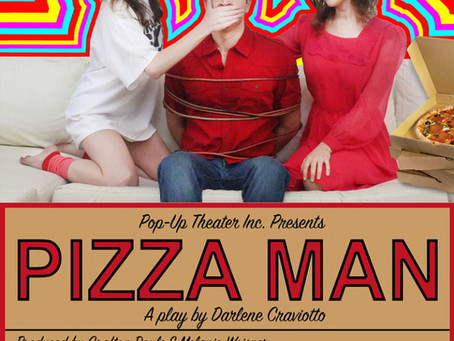 Jan 10, 2018- Official Poster for the stage production of PIZZA MAN Co-Starring Freddy Giorlando.