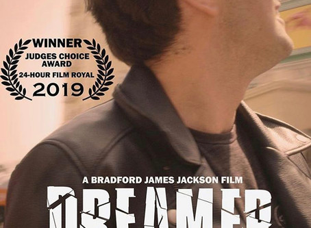 "May 5, 2019- ""DREAMER"" a short film directed by Bradford Jackson  starring Freddy Giorlando WINS!!"