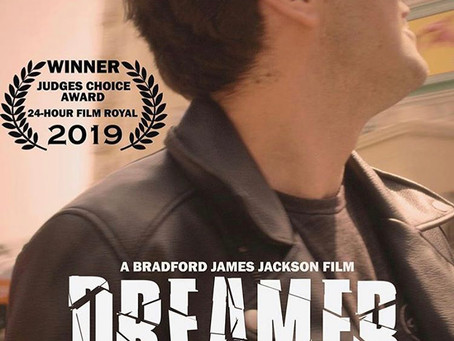 "May 5, 2019- ""DREAMER"" a short film directed by Bradford Jackson  starring Freddy Giorlando WINS!!"