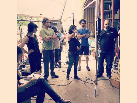 """May 2, 2015- Freddy Giorlando first day on set in Independent Feature Film """"Standing Eight""""."""