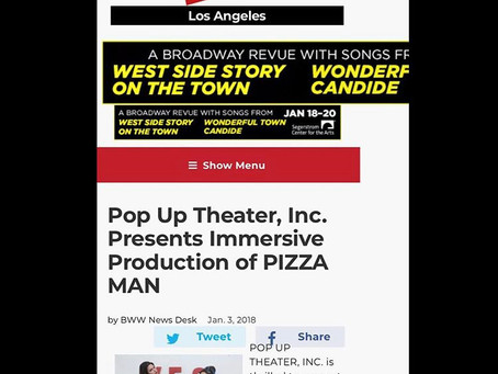 Nov 11, 2017- Giorlando gets cast as Lead Role in upcoming Los Angeles Stage Production of PIZZA MAN