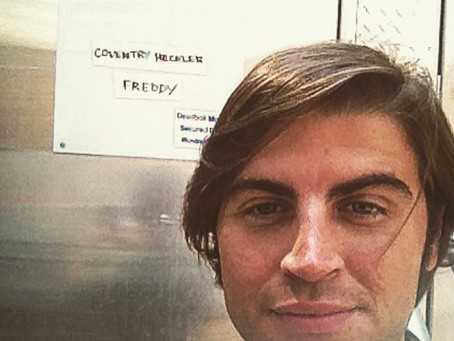 """July 11, 2014- Freddy Giorlando first day on set in HBOs """"Vinyl"""" directed by Martin Scorsese."""