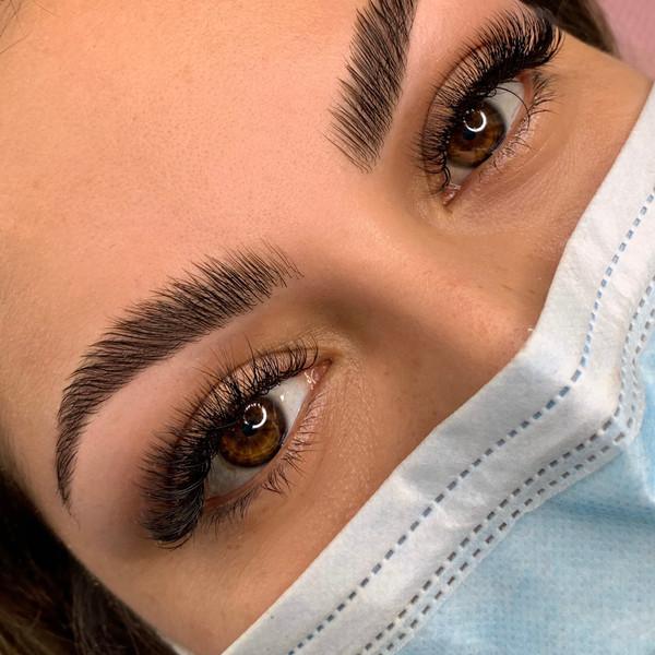 Hybrid Lashes, Brow Lamination