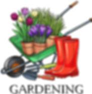 ClipArt - Wheelbarrow with plants ClipAr