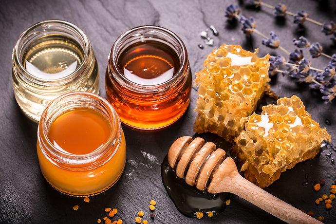 Honey in 3 jars.jpg