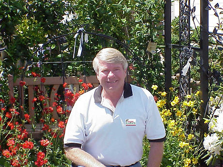 Charlie with Home and Garden Store logo.