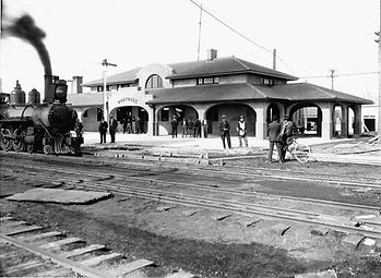 1912 Depot with Train 217.jpg