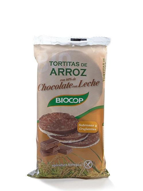 TORTITAS ARRÒS I XOCOLATA AMB LLET BIOCOP 100G