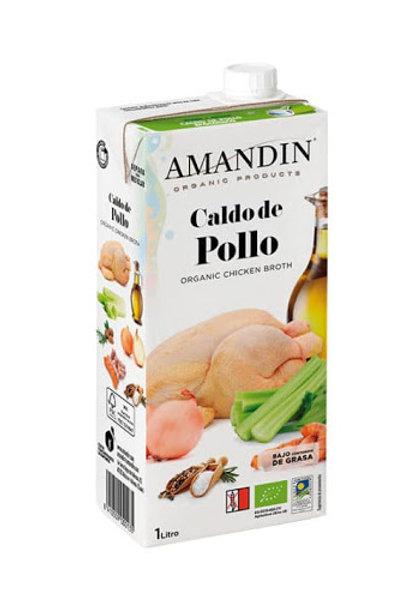 CALDO POLLASTRE AMANDIN 1L