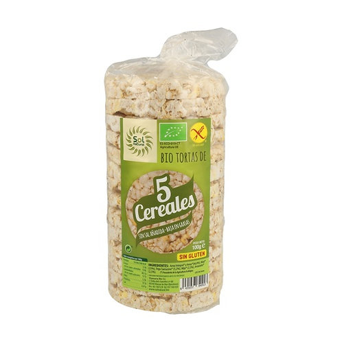 TORTITAS 5 CEREALS SOLNATURAL 100G