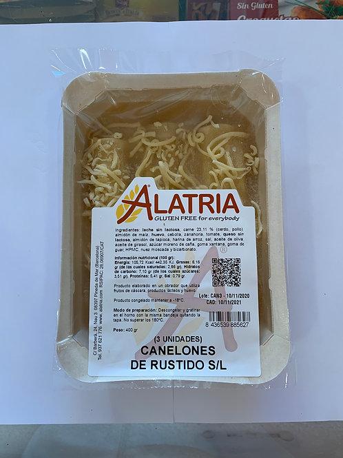 CANELONS DE ROSTIT SENSE LACTOSA ALATRIA 3U