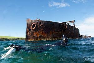 Snorkeler in Scapa Flow