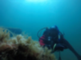 A Diver checking his extended no stop time after his PADI Enriched Air Diver Course UK