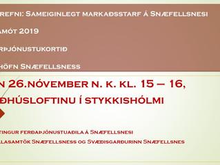 Fundur um sameiginlegt markaðsstarf í ferðaþjónustu á Snæfellsnesi