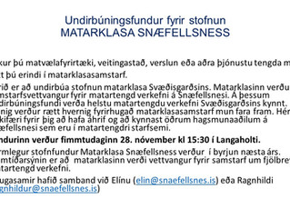 Undirbúningsfundur fyrir stofnun Matarklasa á Snæfellsnesi. Langaholti 28. nóvember 2019 kl. 15.30
