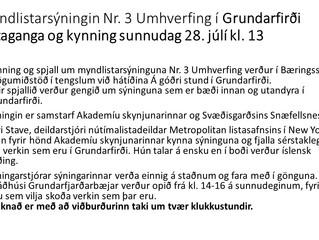 Listaganga í Grundarfirði sunnudag 28.júli