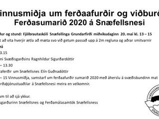 Vinnusmiðja um ferðaafurðir og viðburði ferðasumarið 2020 á Snæfellsnesi