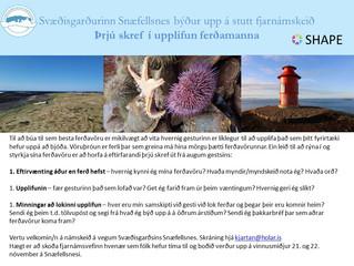 Nú er opið fyrir skráningar á fjarnámskeið í þróun ferðavöru á Snæfellsnesi.