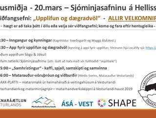 Vinnusmiðja með áherslu á upplifun og mat á Snæfellsnesi. Allir velkomnir.