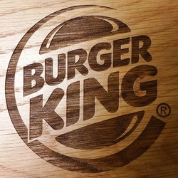 Etched Logo on Wood