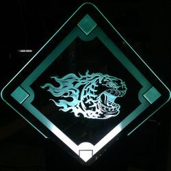 Edge Lit Logo On Glass