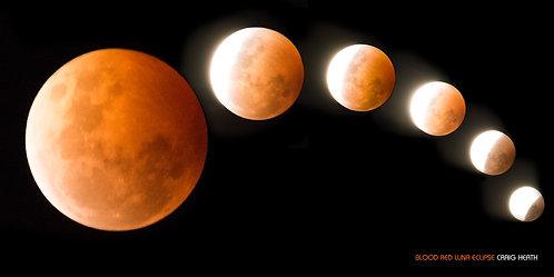 Blood red luna eclipse