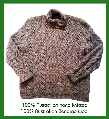 Hand knitted Aus woollen jumpers