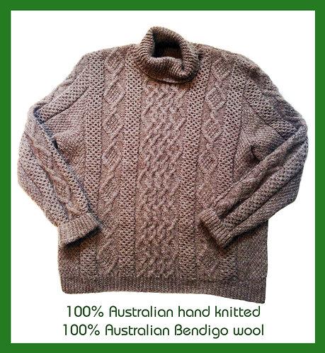Hand knitted Aus woollen jumpers