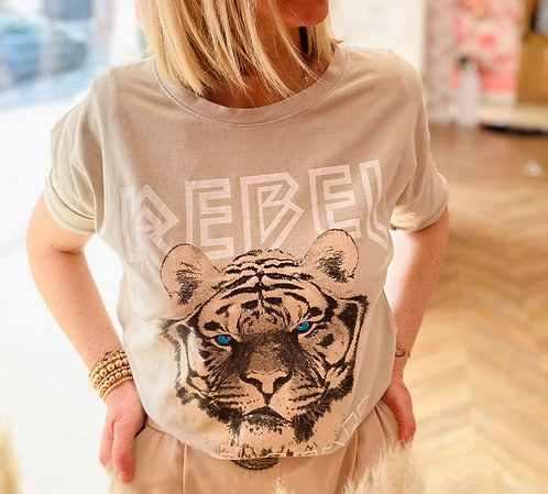 T-shirt REBEL BEIGE