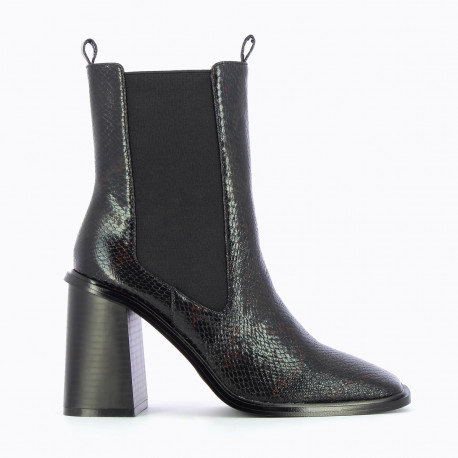 VANESSA WU Boots noires effet serpent
