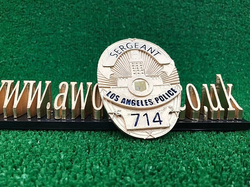 lapd detective badge