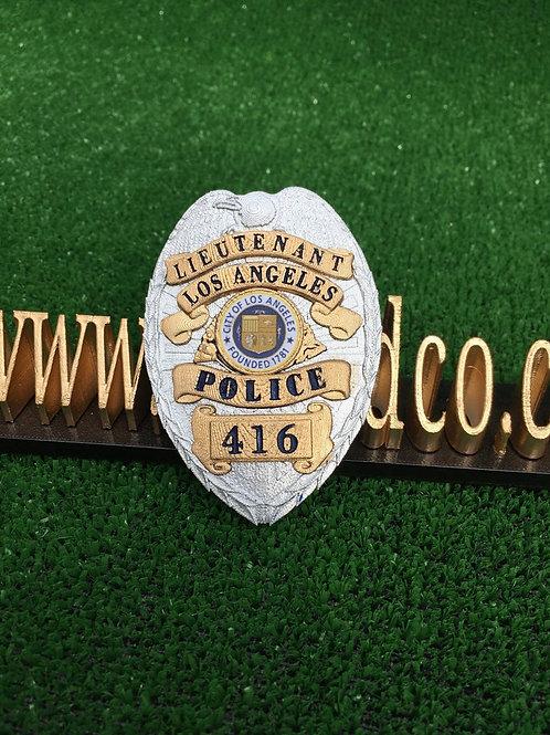 Columbo - Lieutenant LAPD (Early) Detective Badge 416