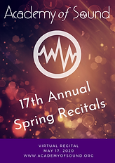 Academy of Sound 2020 Spring Recital Program